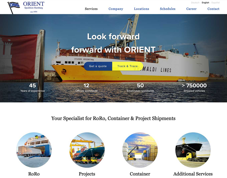 Webdesign ODS Orient
