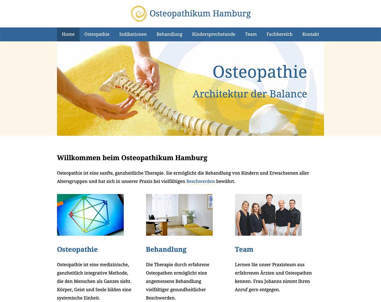 Webdesign Osteopathikum Hamburg