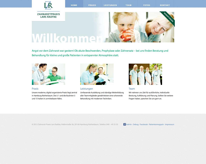 Webdesign Zahnarztpraxis Lars Radtke