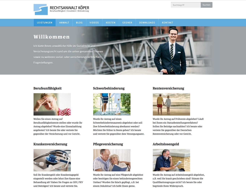 Webdesign Rechtsanwalt Köper