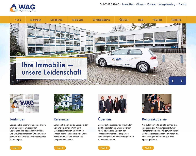 Webdesign WAG Salzgitter
