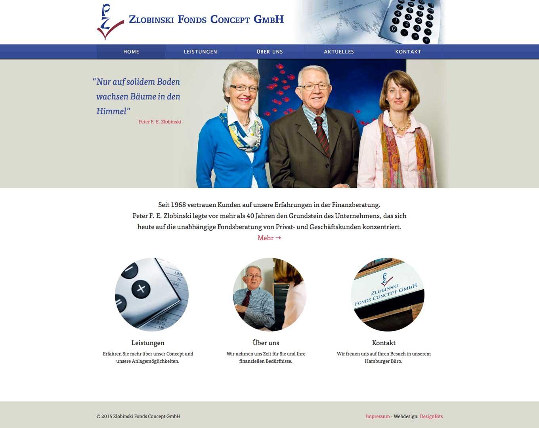 Webdesign Zlobinski Fonds Concept